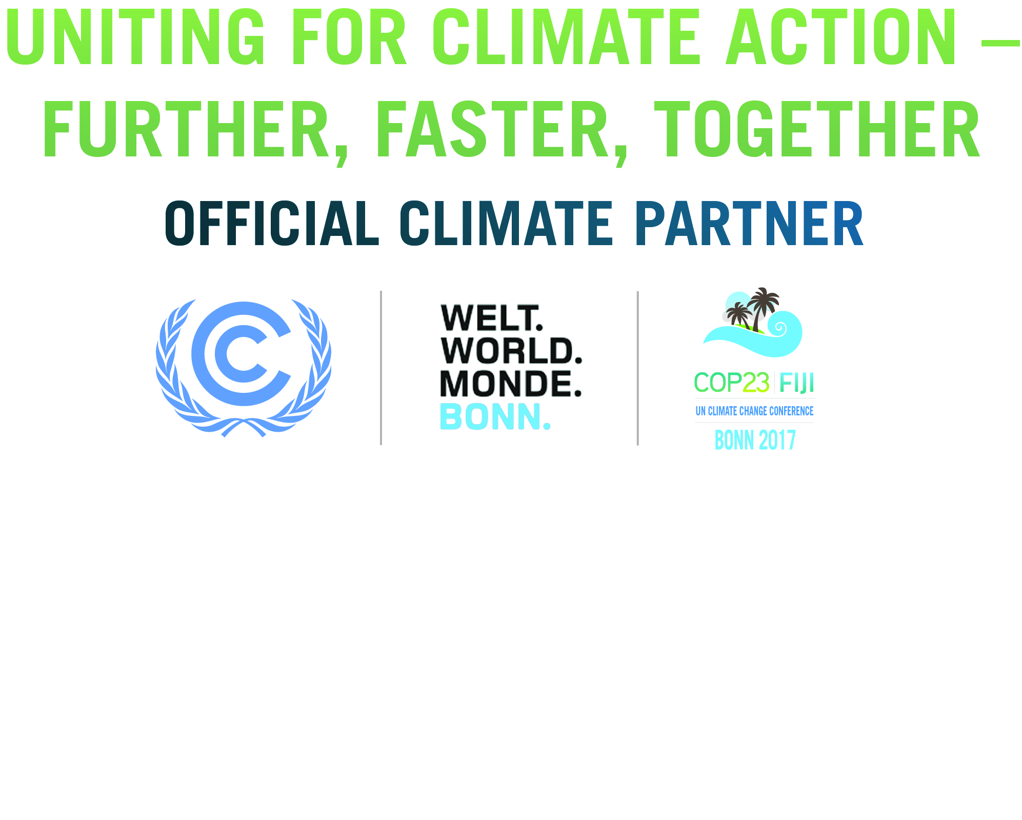 COP23 BonnCity Official Climate Partner Logo